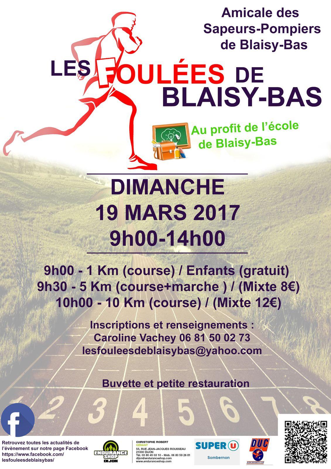 Dimanche 19 mars 2017 - Les Foulées de Blaisy-Bas