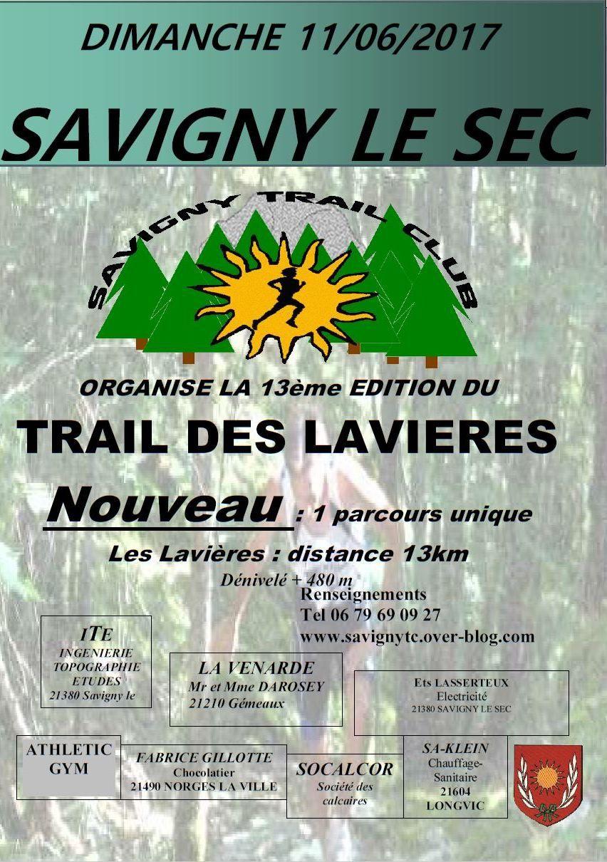Dimanche 11 juin 2017 - Trail des Lavières - Savigny-le-Sec