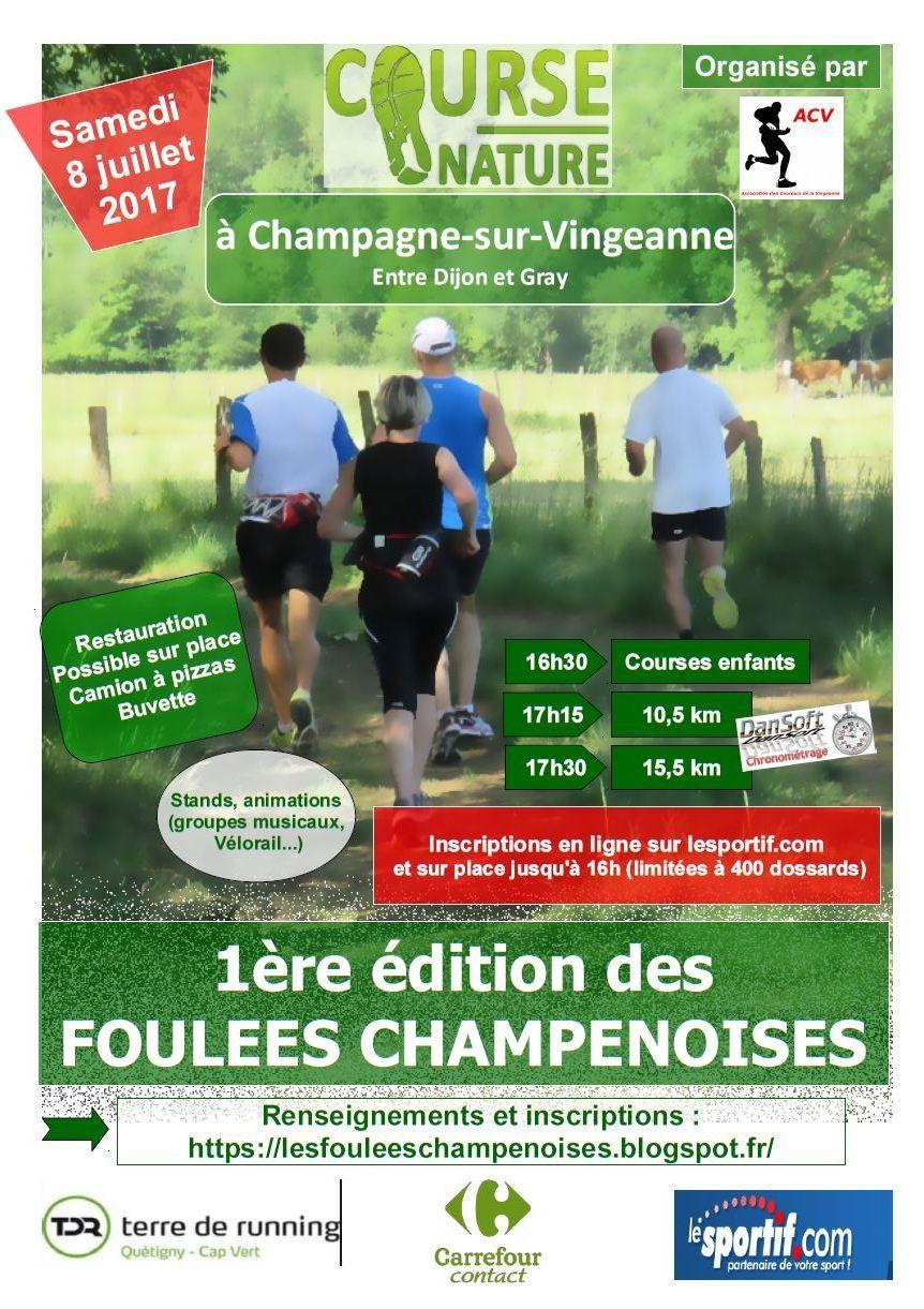 Samedi 8 juillet 2017 - Les Foulées Champenoises - Champagne-s/-Vingeanne