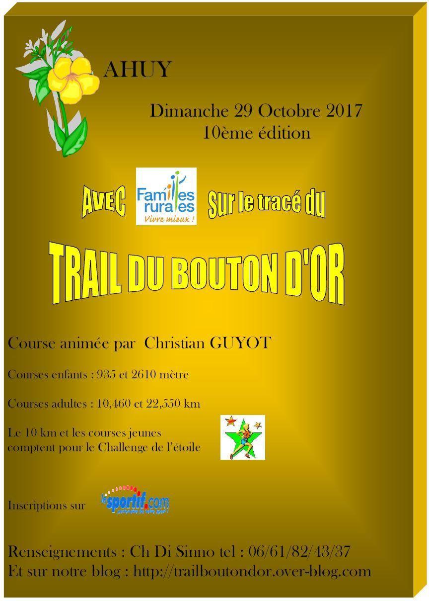 Dimanche 29 octobre 2017 - Trail du Bouton d'Or - Ahuy