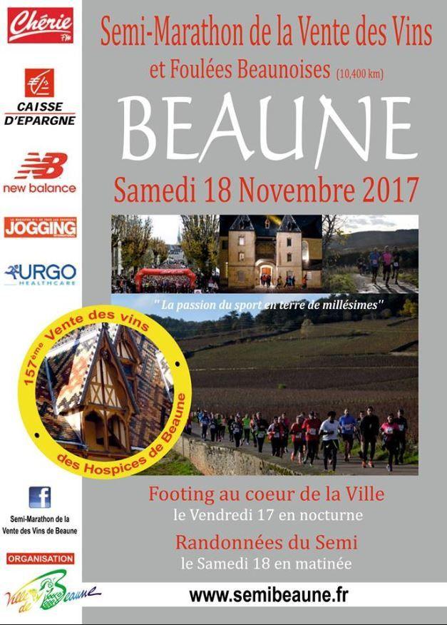 Samedi 17 novembre 2017 - Semi-marathon de la vente des vins - Beaune