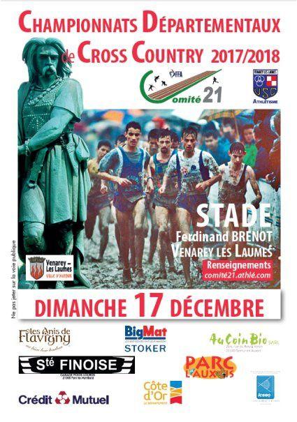 Dimanche 17 décembre 2017 - Départementaux de cross - Venarey-les-Laumes