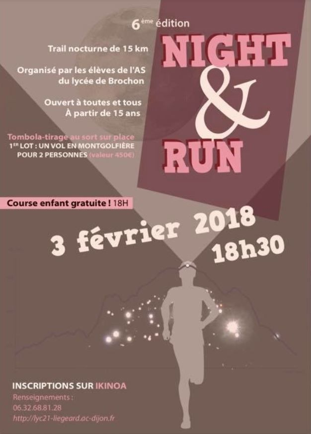 Samedi 3 février 2018 - Night and Run - Brochon