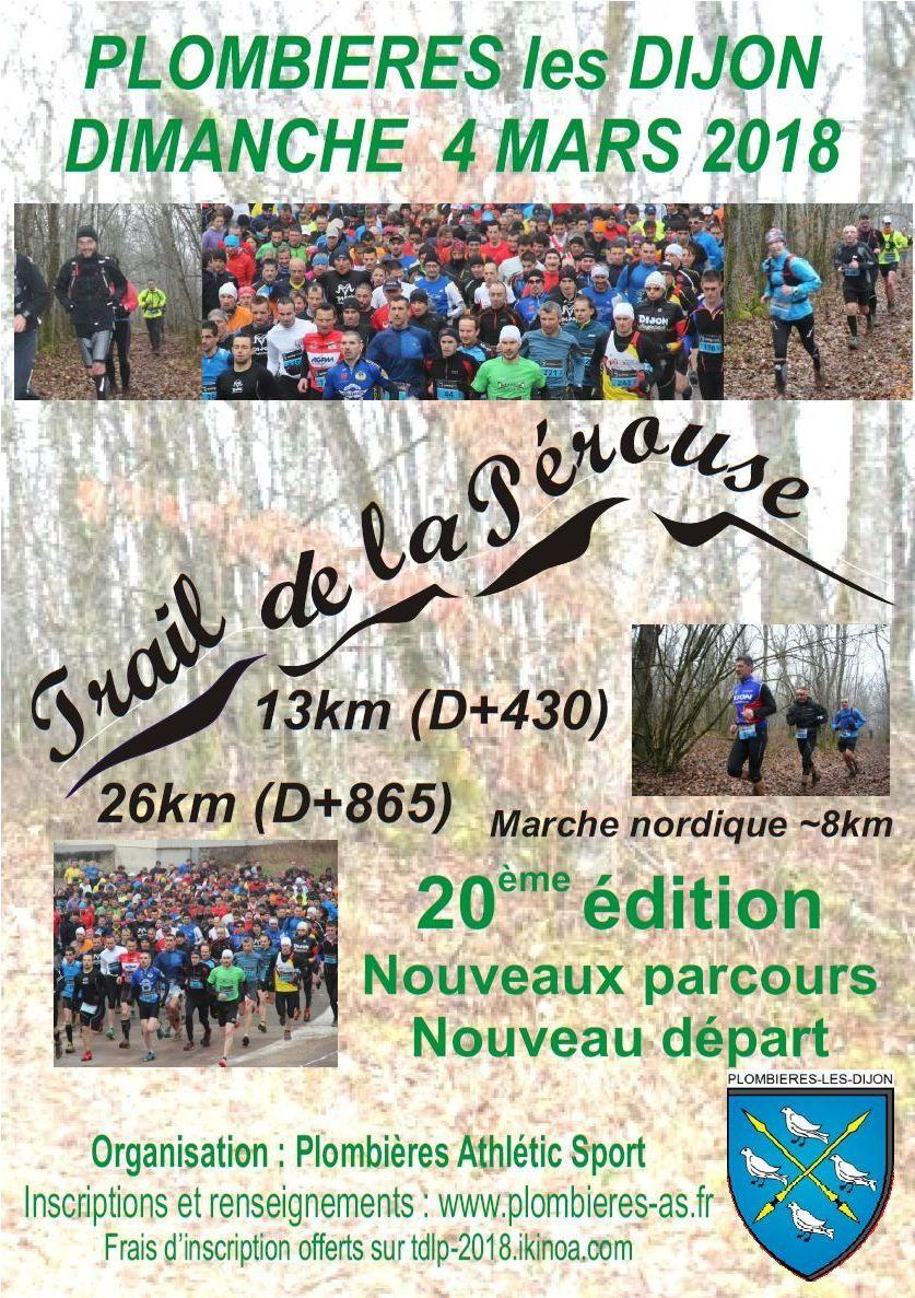 Dimanche 4 mars - Trail de la Pérouse - Plombière-les-Dijon
