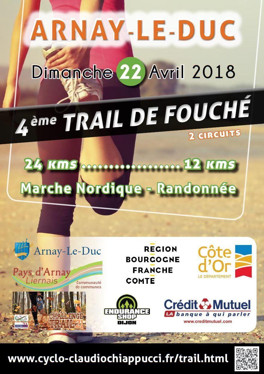 Dimanche 22 avril 2018 - Trail de Fouché - Arnay-le-Duc