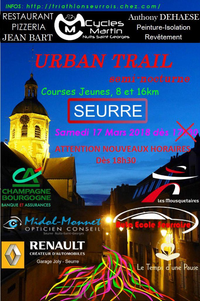 Samedi 17 mars 2018 - Urban Trail - Seurre