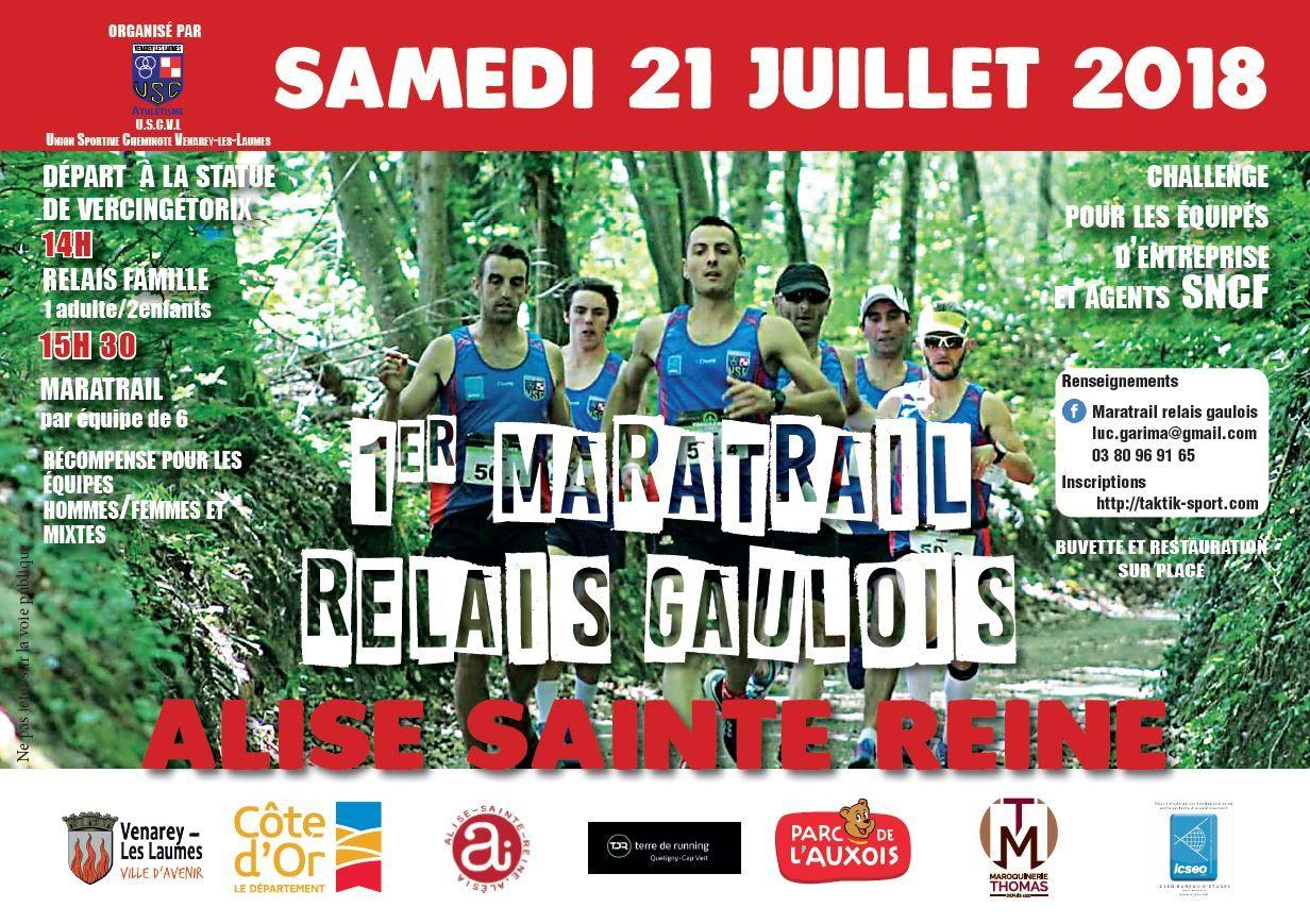 Samedi 21 juillet 2018 - Maratrail relais Gaulois - Alise-Sainte-Reine