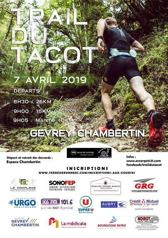 Dimanche 7 avril 2019 - Trail du Tacot - Gevrey-Chambertin