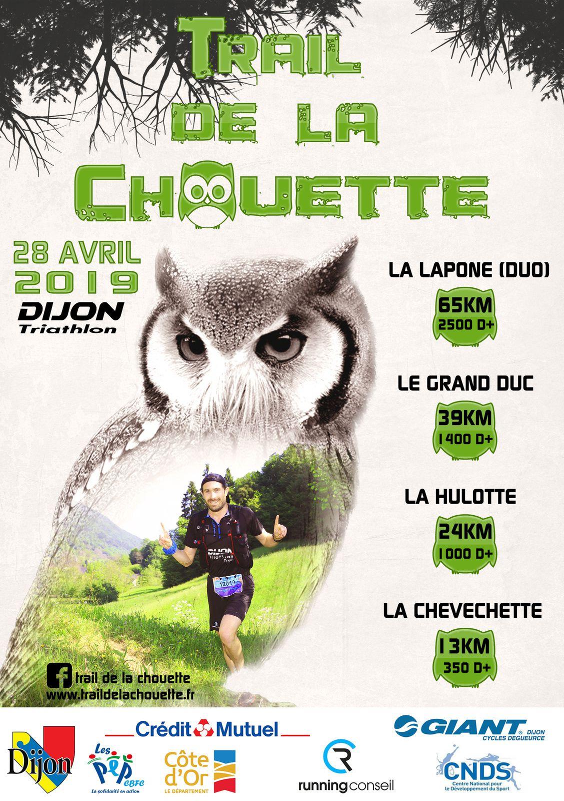 Dimanche 28 avril 2019 - Trail de la Chouette - Dijon