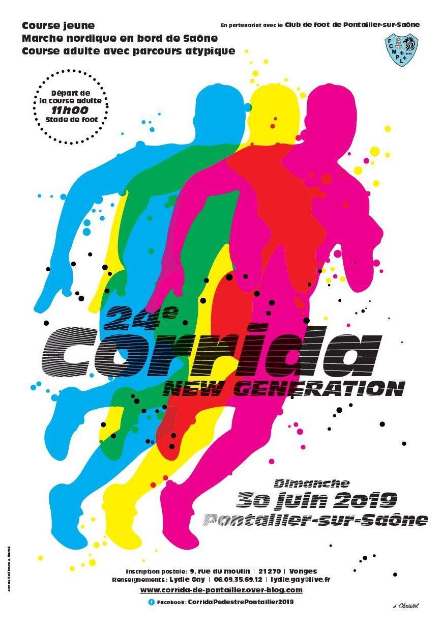 Dimanche 30 juin 2019 - Corrida de PONTAILLER-sur-Saône