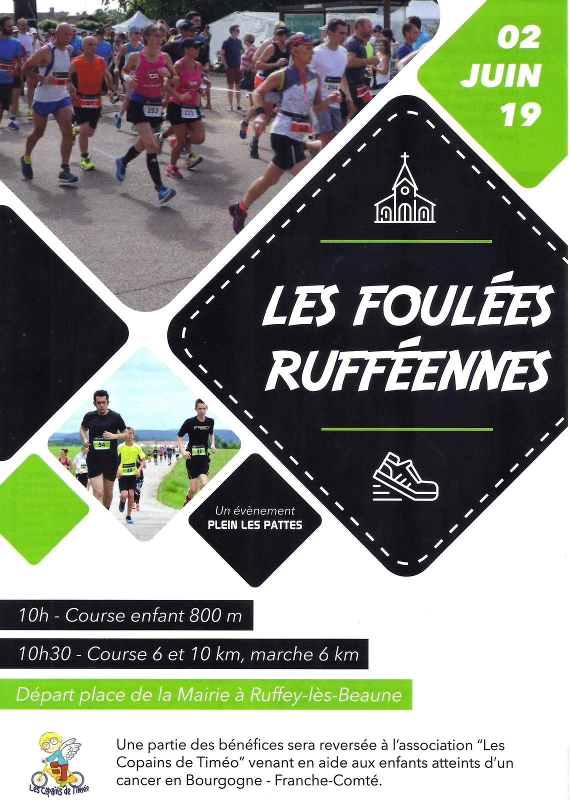 Dimanche 2 juin 2019 - Les Foulées rufféennes - Ruffey-les-Beaune