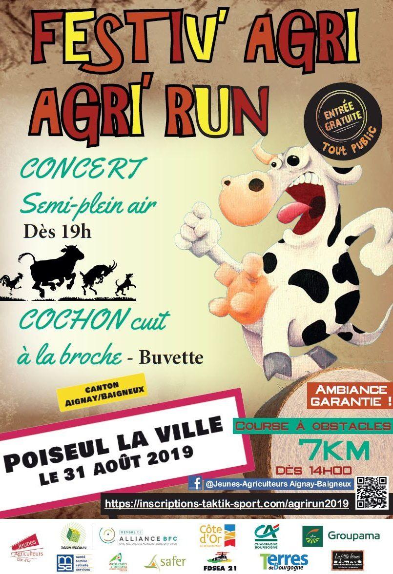 Samedi 31 août 2019 - Agri' Run - Poiseul-la-ville