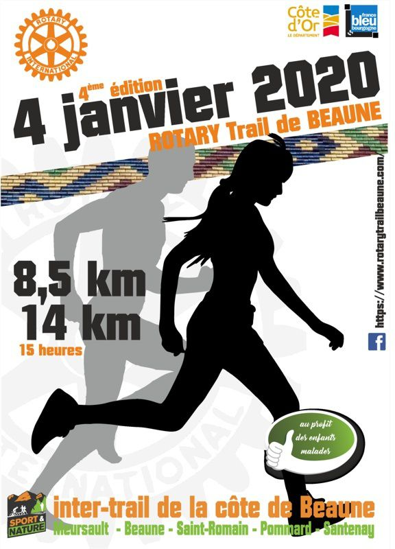 Samedi 4 janvier 2020 - Rotary Trail - Beaune