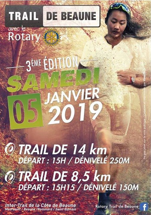 Samedi 5 janvier 2019 - Rotary Trail - Beaune