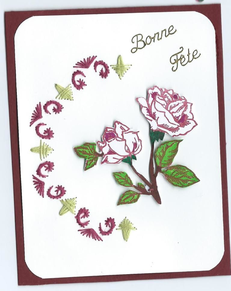 defi 51-2016 - carte brodée