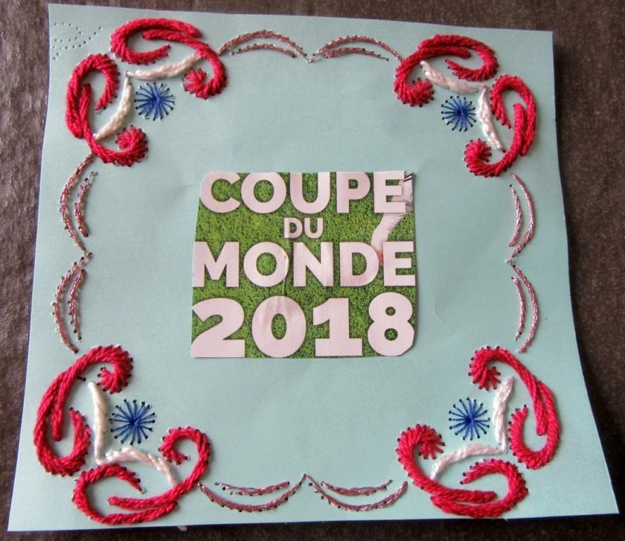 DEFI 20-2018- CARTE BRODEE