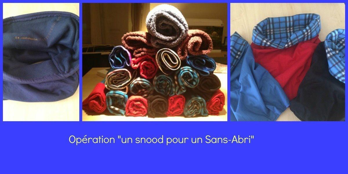 """Opération """"Un snood pour un sans abri"""" - Bilan 1"""