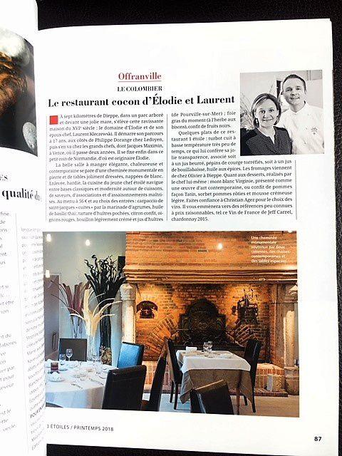 Magazine 3 étoiles restaurant le colombier offranville