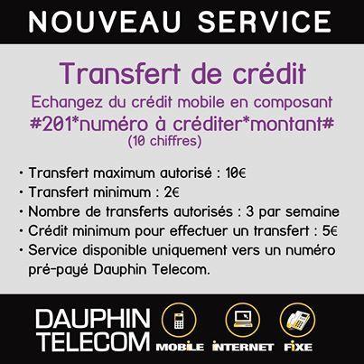 """Dauphin telecom lance le service """"transfert de crédit"""""""