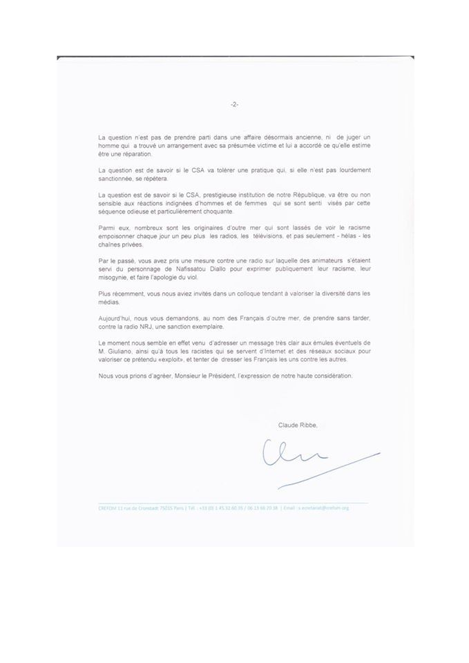 Blackface : Le CREFOM demande au président du CSA une sanction exemplaire contre la radio NRJ