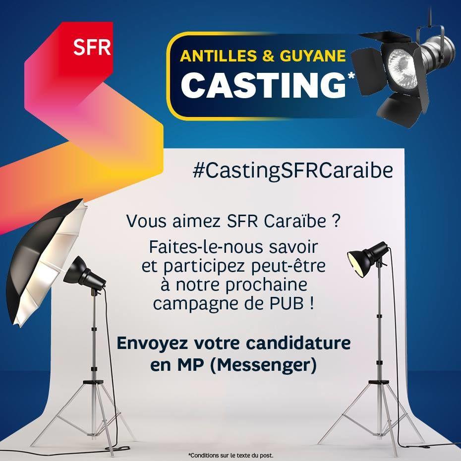 SFR Caraïbe lance un casting pour sa prochaine campagne publicitaire  !