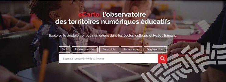 Outre-Mer : Observatoire des territoires numériques éducatifs (eCarto)