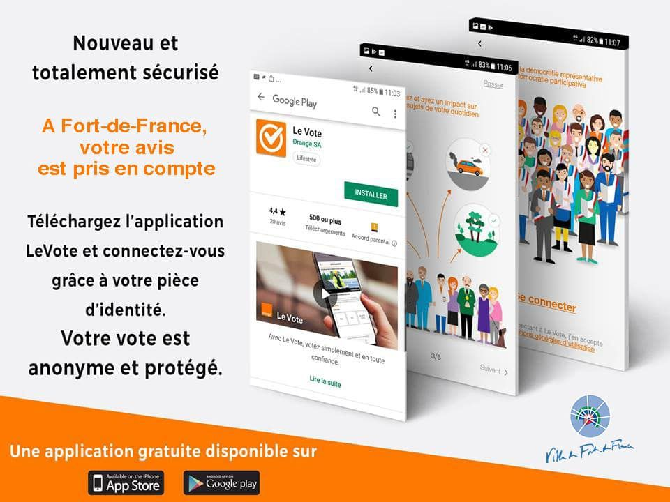 Fort-de-France (Martinique) : Lancement de l'application « Le Vote » !