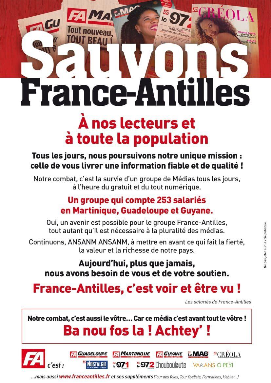 « Sauvons France-Antilles » !