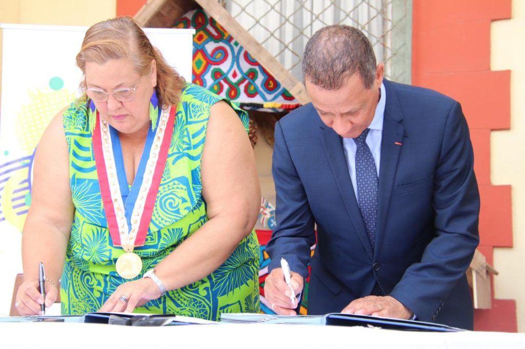 Sophie CHARLES, maire de Saint-Laurent du Maroni et Rodolphe Alexandre, Président de la Collectivité Territoriale de Guyane (CTG)