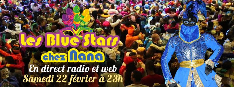 Guyane la 1ère : Les Blue Stars chez Nana en direct radio et web
