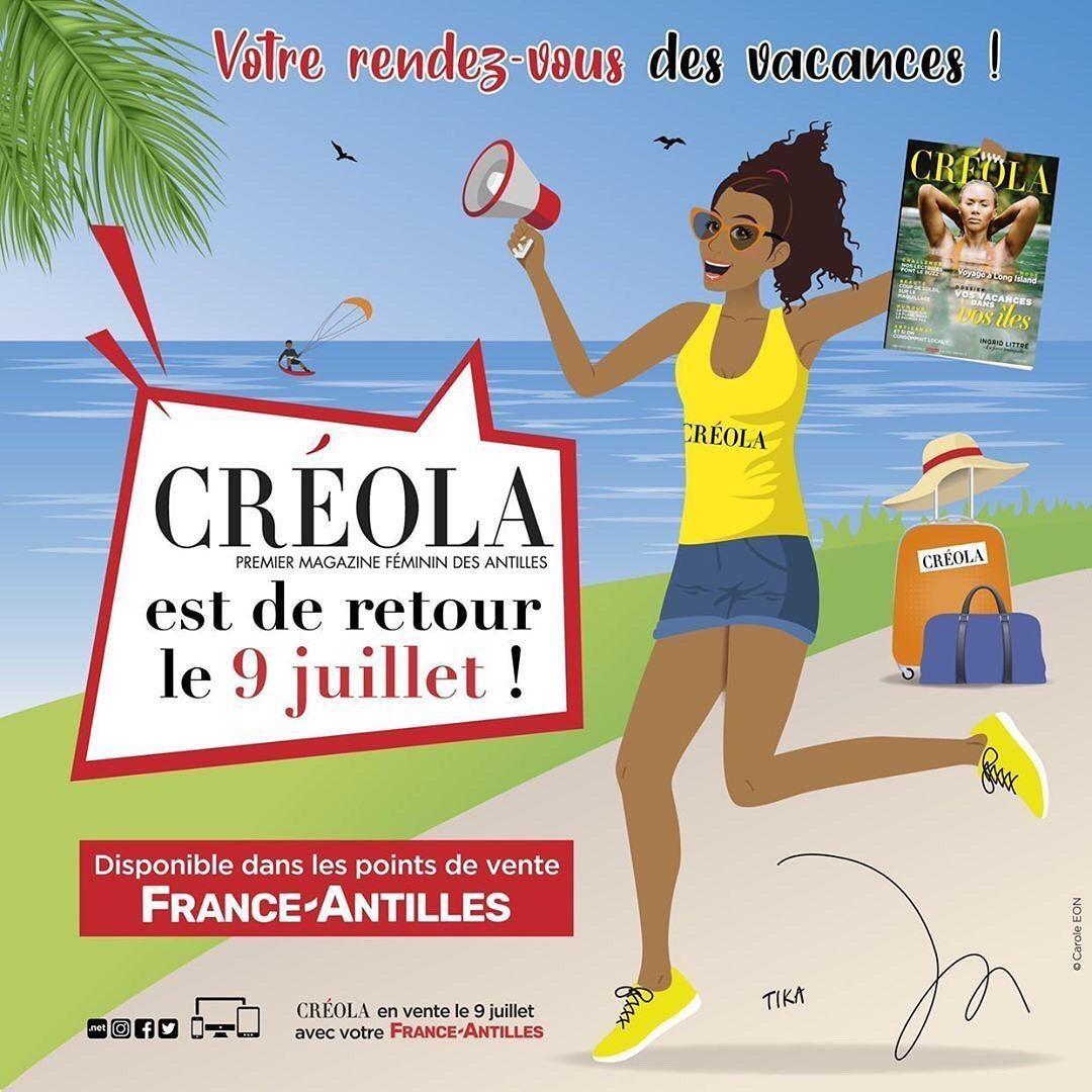 Le magazine féminin « Créola » de retour le mois prochain !