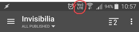 Logos VoLTE sur un équipement Android et iOS (iPhone)