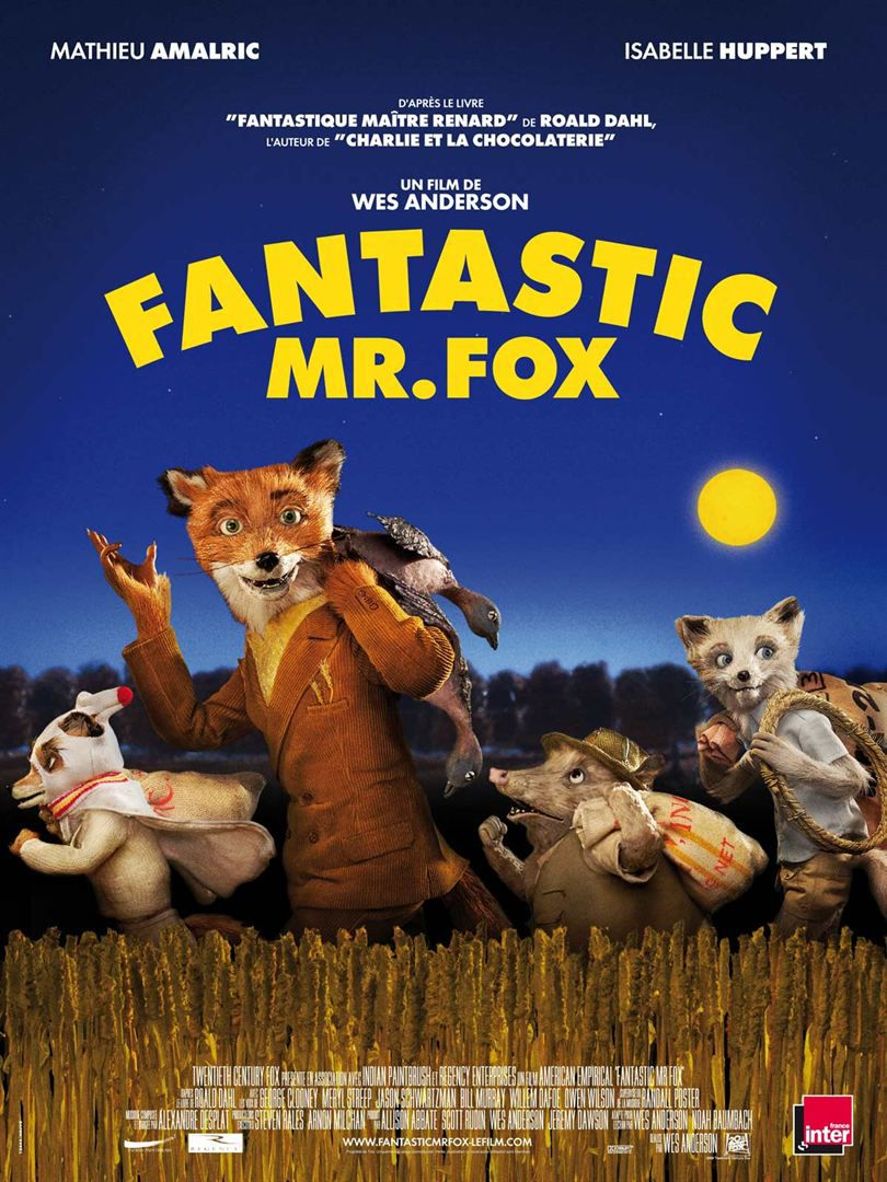12)Fantastic Mister Fox(Wes Anderson, 2009)