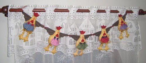 Poules en patchwork
