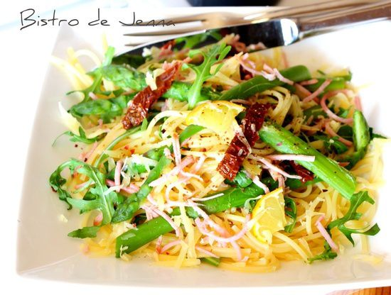 Spaghetti aux asperges- improvisation