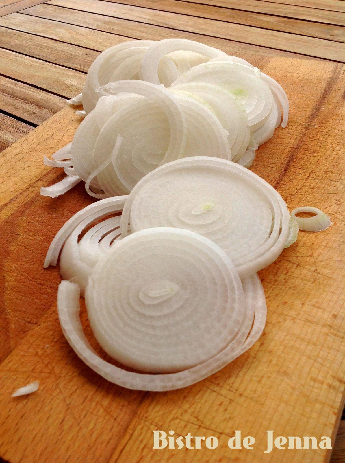 Oignons blanc nouveaux