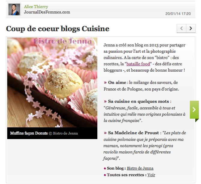 Coup de coeur blogs Cuisine de Journal des femmes  http://cuisine.journaldesfemmes.com/gastronomie/coup-de-coeur-blogs-cuisine/