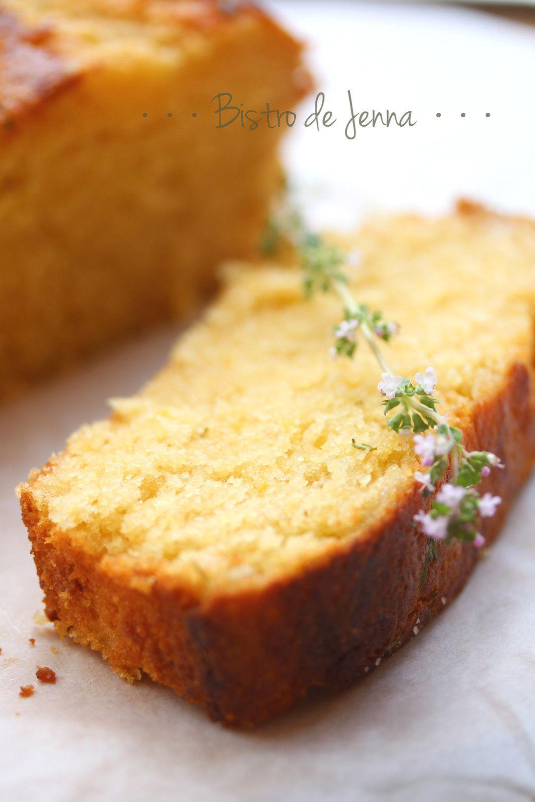 Cake au citron et thym frais