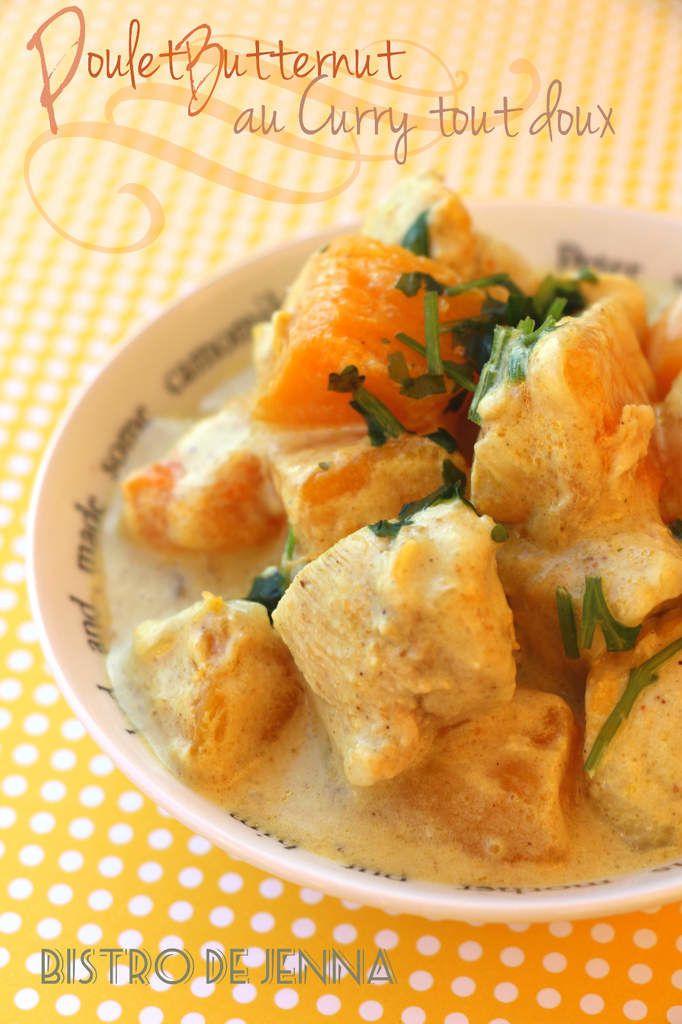 Poulet Butternut au curry tout doux