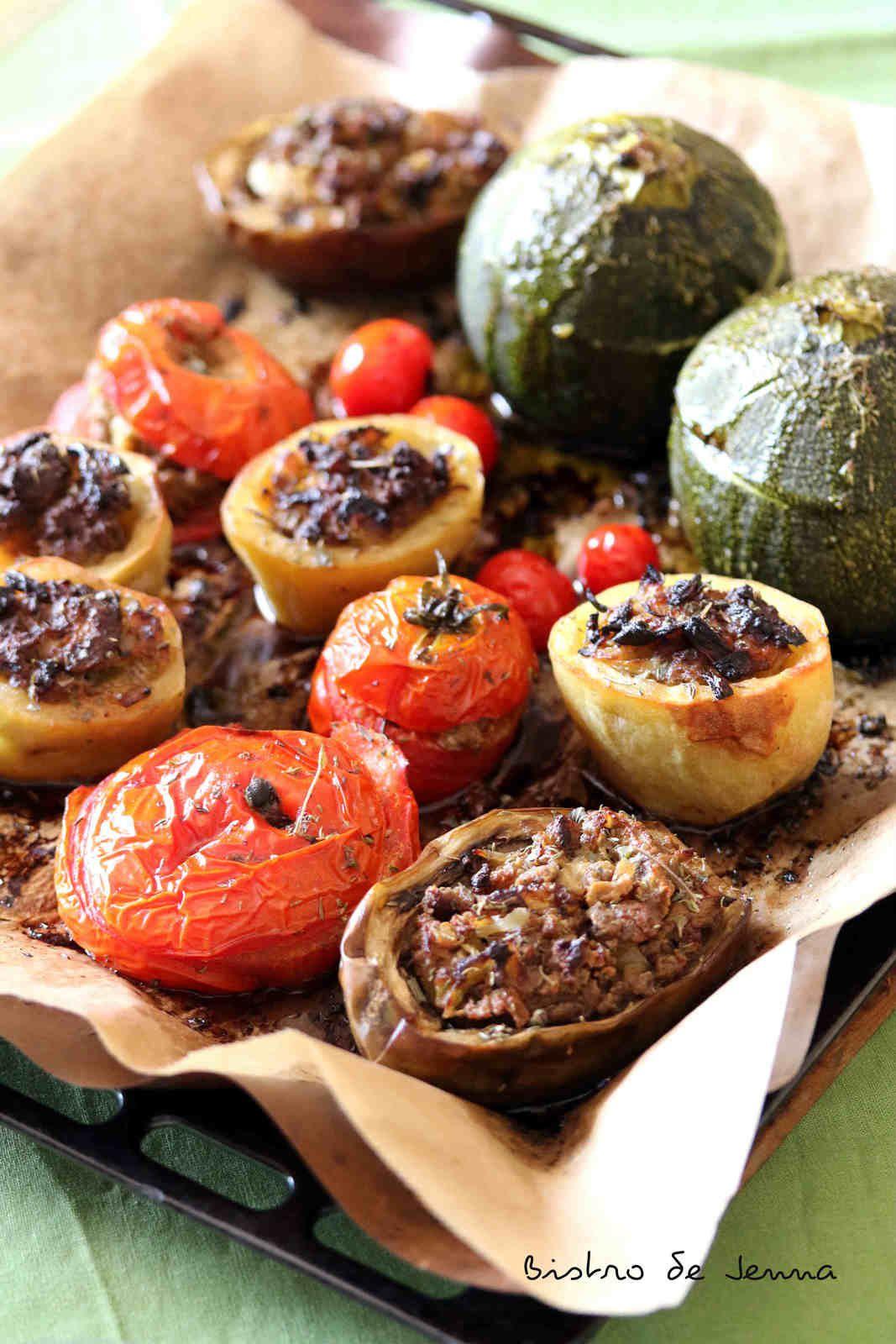 Légumes farcis à la viande de canard