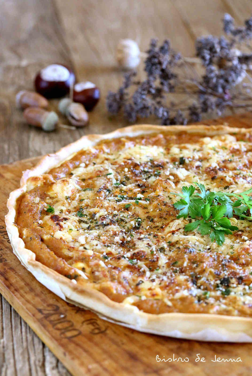 Tarte salée Butternut et Roquefort