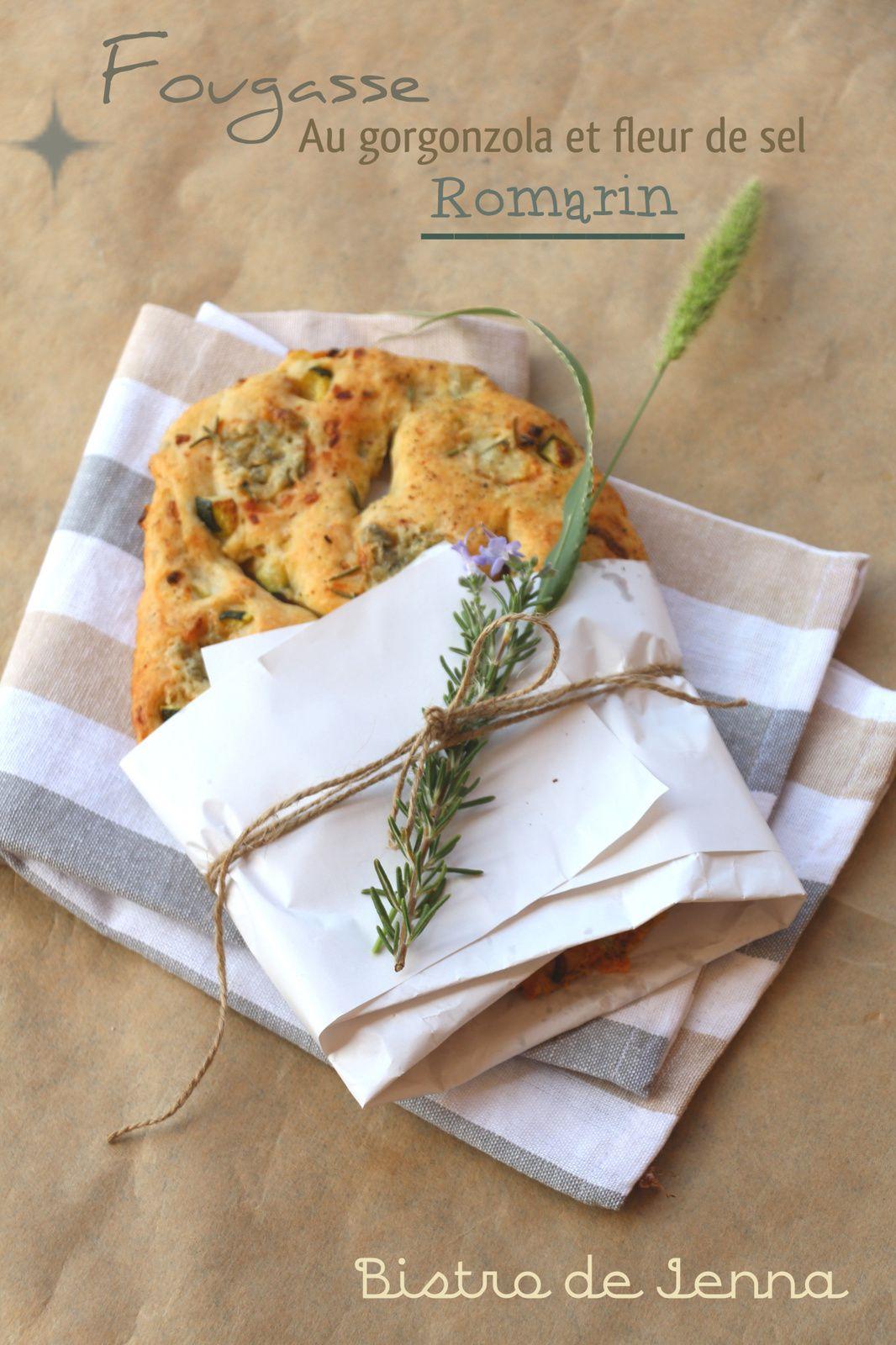 Fougasse au gorgonzola, romarin et fleur de sel
