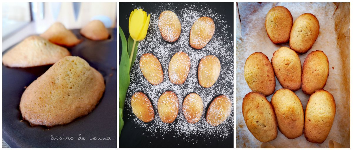 Madeleines  parfumées au zeste de bergamote