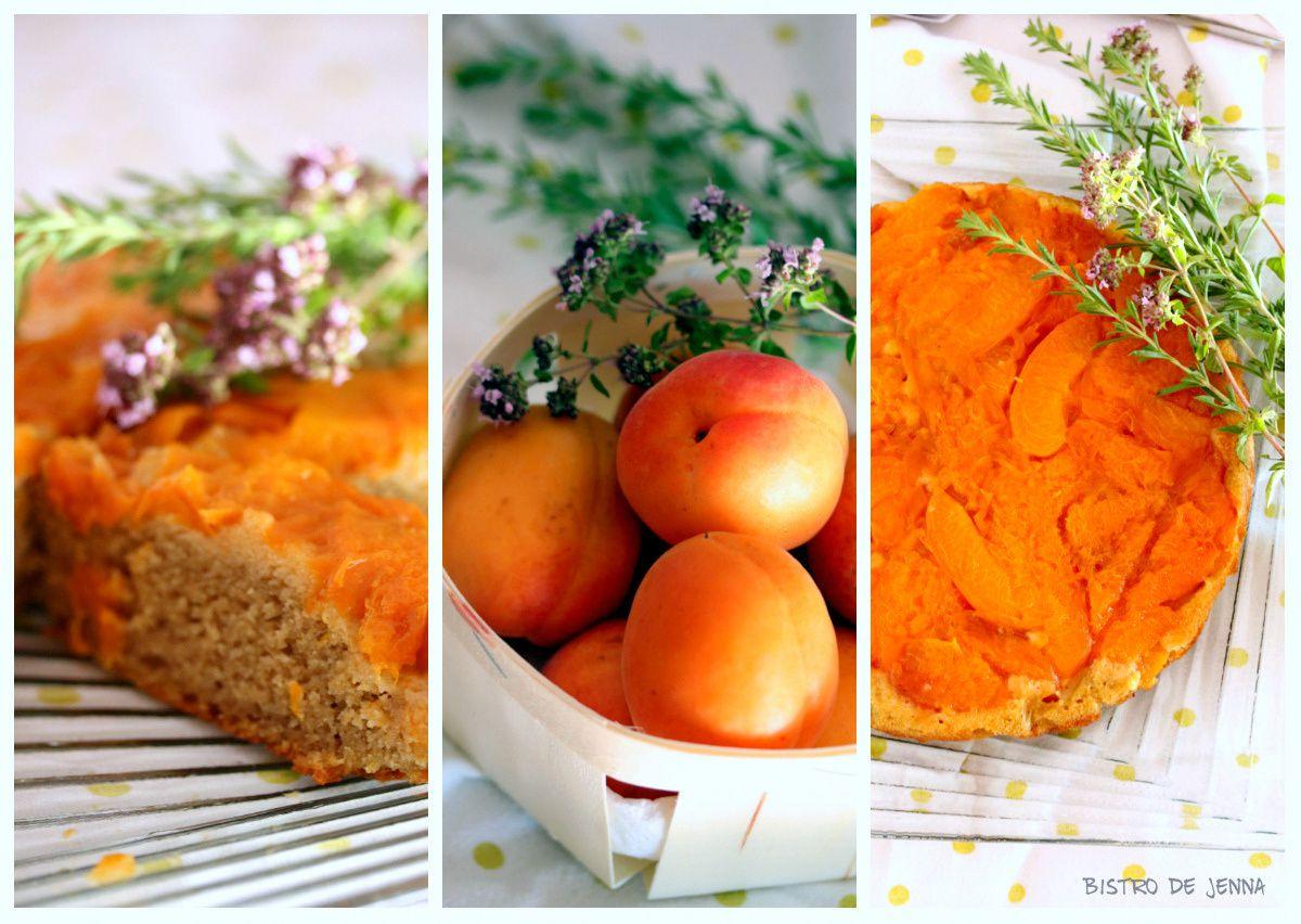 Gâteau fondant aux abricots parfumés au romarin
