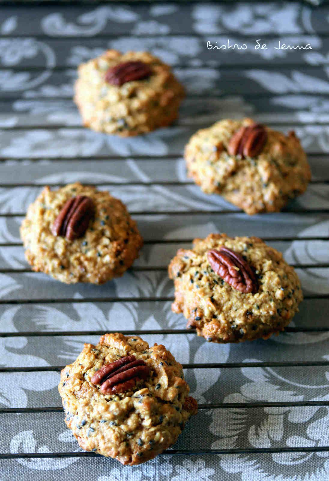 Cookies aux noix de pecan et flocons de sarrasin igbas