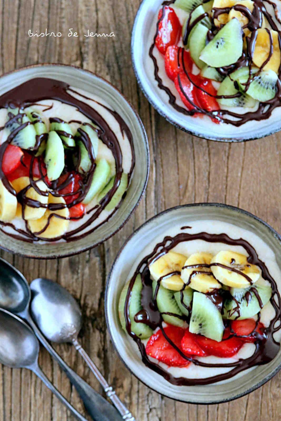 Semoule bowl choco-noisettes et fruits frais