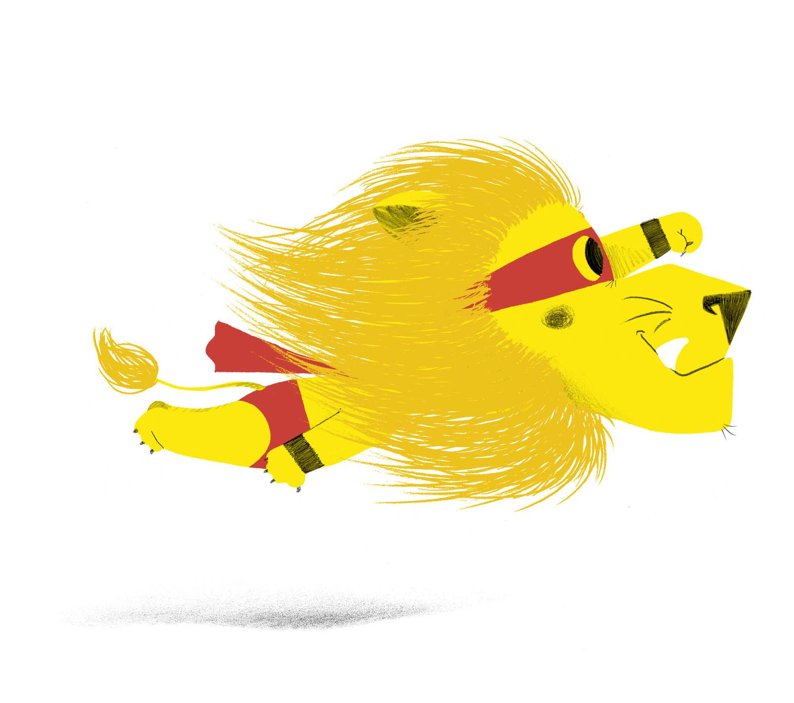 Lion super volant !
