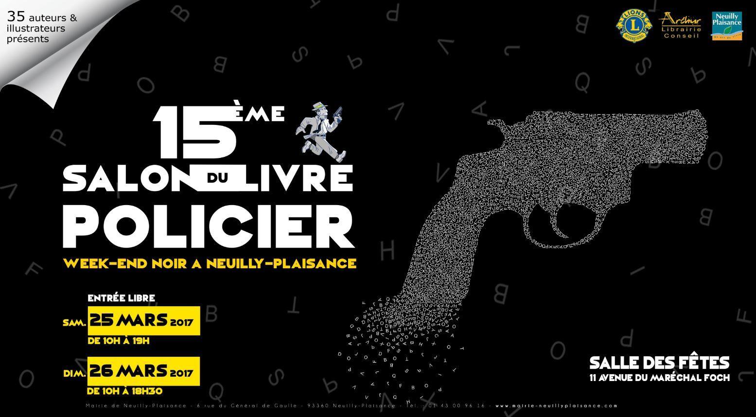les 25 et 26, Salon du livre Policier à Neuilly Plaisance