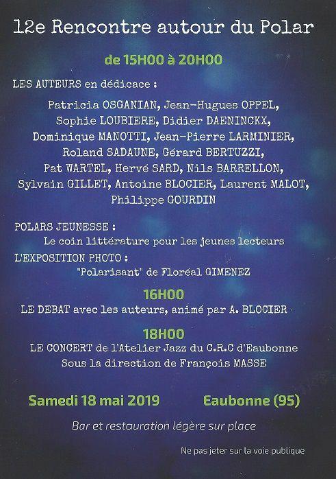 12e rencontres autour du Polar à Eaubonne (95)