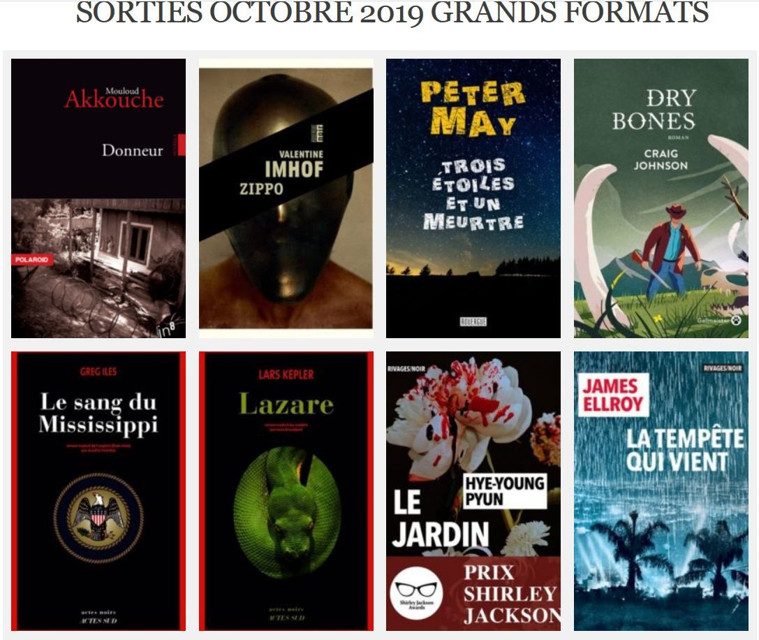 Sorties d'octobre en grand format